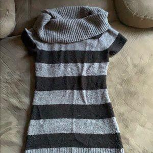 Striped T shirt sweater dress!